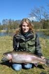 kærshovedgård put and take, fiskeri, girlfishing.dk, regnbueørred, Lisa Jørgensen