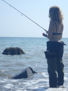 fiskeri moesgård strand havørred fladfisk girlfishing.dk