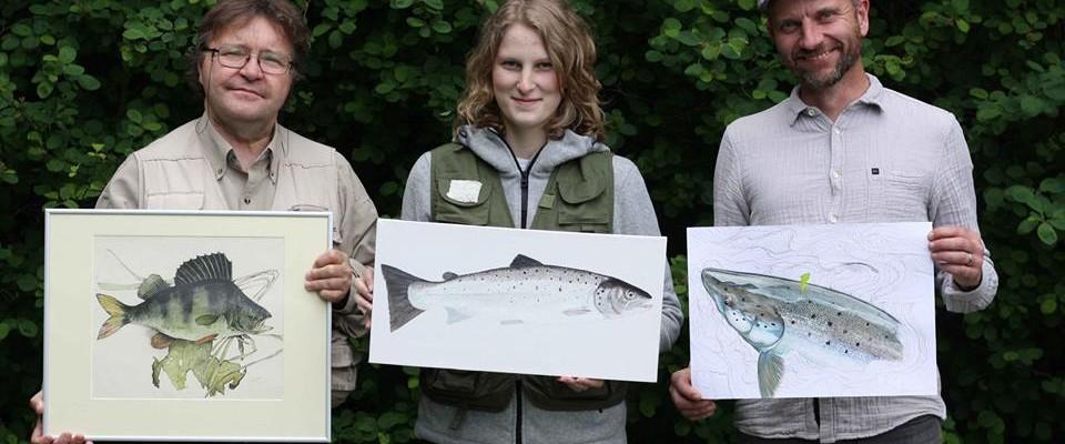 Skjern Å Lystfiskerfestival – Mine malerier og handicapfiskeri